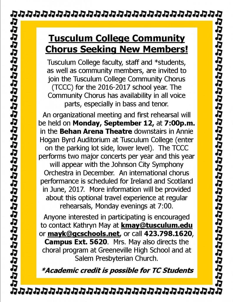 Chorus invite 2016